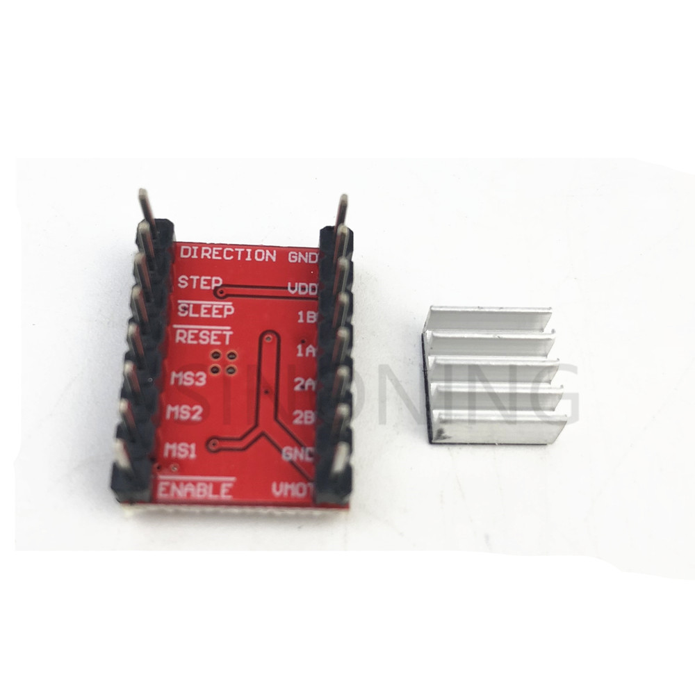 A4988 Stepper Motor Driver Reprap To Send Heat Sink Pin Header Has Been Soldered Red Board