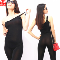 Cosplay Sexy Women ice Silk See Through Shaping Bodysuit Pantyhose Catsuit Erotic Lingerie Club Dance Wear 69