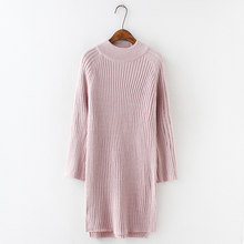 1adb6a66b79 H.SA Women Long MAXI Sweater Dresses 2018 Candy Color Below Knee Knit Jumpers  Winter Dress Pull Sweater Pink Winter Jumpers Pull