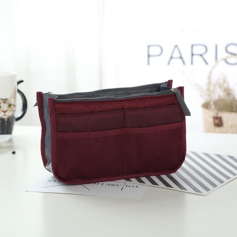 14 Colors Make up Organizer Bag Men Casual Travel Bag Multi Functional Women Cosmetic Bags Storage Bag in bag Makeup Handbag цена 2017