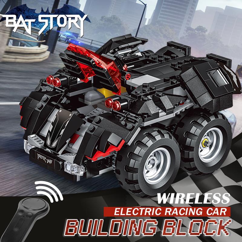Schnelle Lieferung Rc Fernbedienung Batmobil Auto Bausteine Bricks Set Kompatibel Legoed Comic Super Heroes Pädagogisches Elektrische Spielzeug Geschenke Bequem Zu Kochen