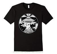 قمم الصيف بارد مضحك shirt الوشم الفضاء الزى-ufo 51 منطقة روزويل الغريبة نعتقد المحملة
