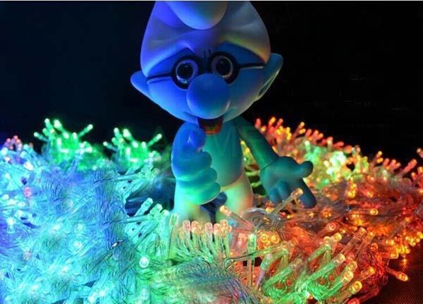 Christmas lights 100M 600 SMDs LED String Strip Garlands EU/UK/US/AU plug Fairy Light Landscape Wedding Party Garden decoracao