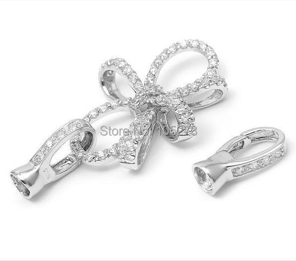Ensemble la chaîne de zirconium 925 fermoir argent, 61x33. Collier en cristal de perle naturelle de haute qualité bricolage 5mm, fermoir bracelet.-L74