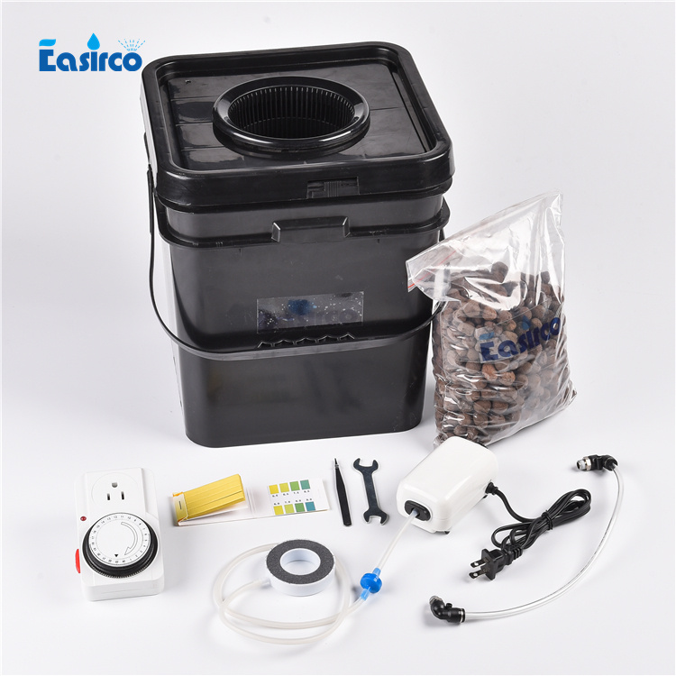 Full complete square pot DWC hydroponics system cloner bucket