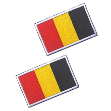 5pcs Embroidery Badge Belgian National Flag Of Belgium Military Embroidered Badges Tactical Patch For Outdoor Clothing Cap Bag embroidered patches united states montana state flag patch tactical 3d national flags army armband badge