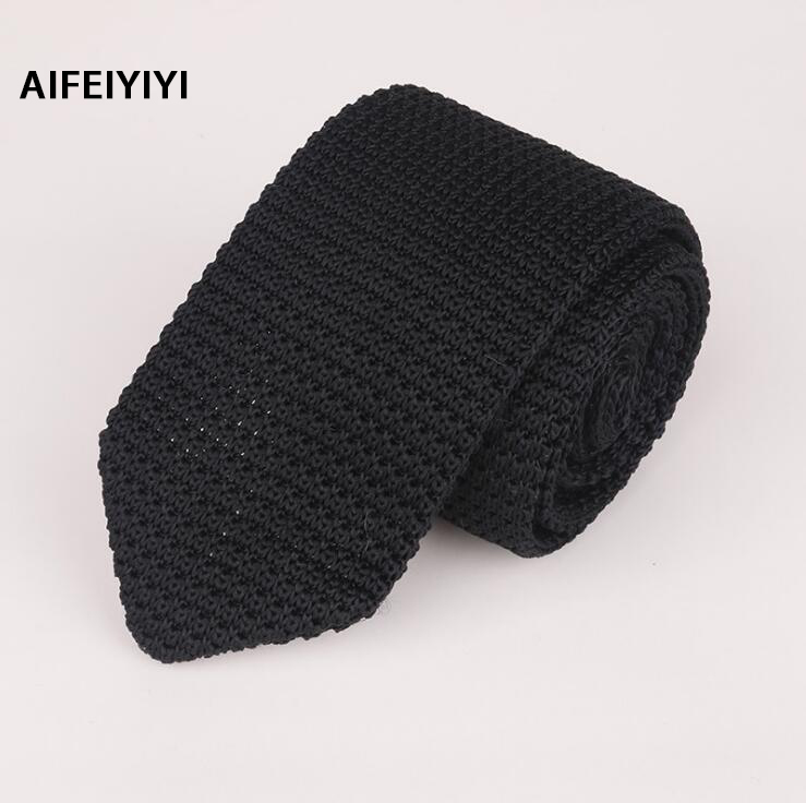 Men's Knit Tie Pointed New Fashion Business Formal Casual Wear with Wool Tie