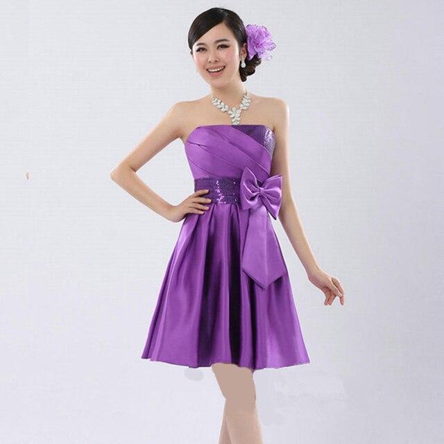 2015 New Fashion Wedding Party Dress Strapless Modest Prom