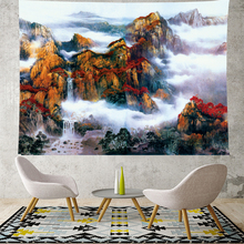 Natural scenery tapestry wall hanging Mountain range scenic goblenelk landscape tapestries Yoga Mat  beach tapestry Home Decor island beach scenic wall art decor tapestry
