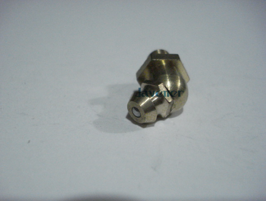 LOT 10 M4 Metric male Thread 45 degrees Brass Grease Zerk Nipple Fitting For machine tool greaseing accessory