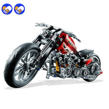 A toy A dream Decool 3354 Technic City Series Motorbike Harley Vehicle Building Blocks Bricks Model Kids Toys Marvel Legoingly(China)