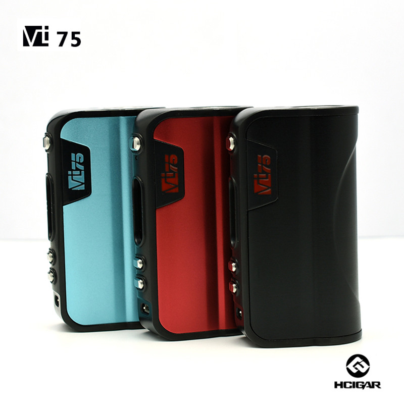100% Original HCigar VT75 Box mod 75W Evolve DNA75 chip electronic cigarette original hcigar vt75d dna 75w box mod