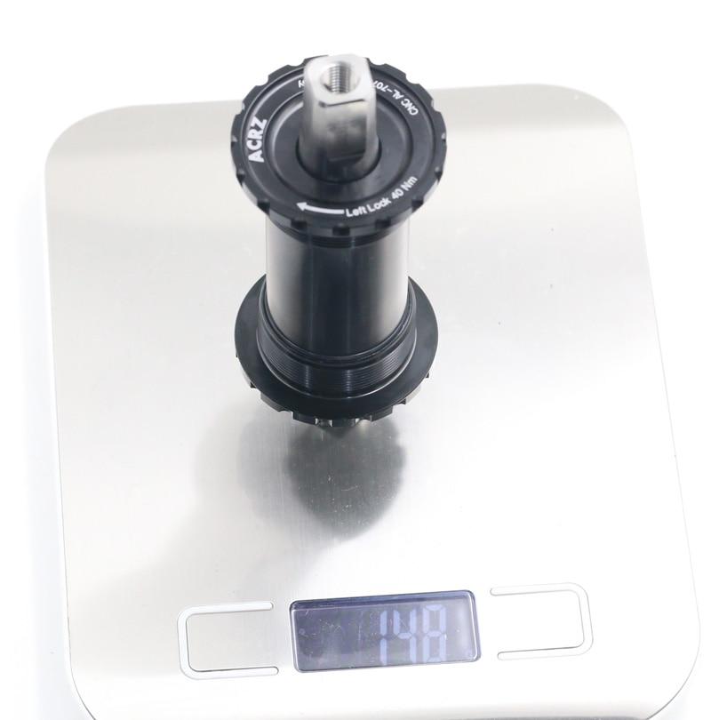 Support de pédalier conique carré fileté anglais titane BSA 119mm pour brompton 148g - 5