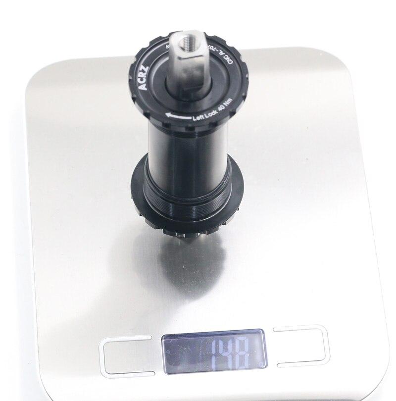Titanium  BSA english threaded square taper bottom bracket 119mm for brompton 148g
