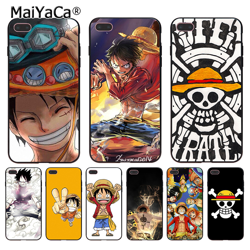 MaiYaCa Japanese anime collage one piece luffy Coque Shell Phone Case  for Apple iPhone 8 7 6 6S Plus X 5 5S SE 5C Cover