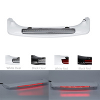 Motorcycle ABS Rear Trunk Spoiler W/ LED Red CLear Lens For Honda Goldwing 1800 GL1800 2001 17 White/Black