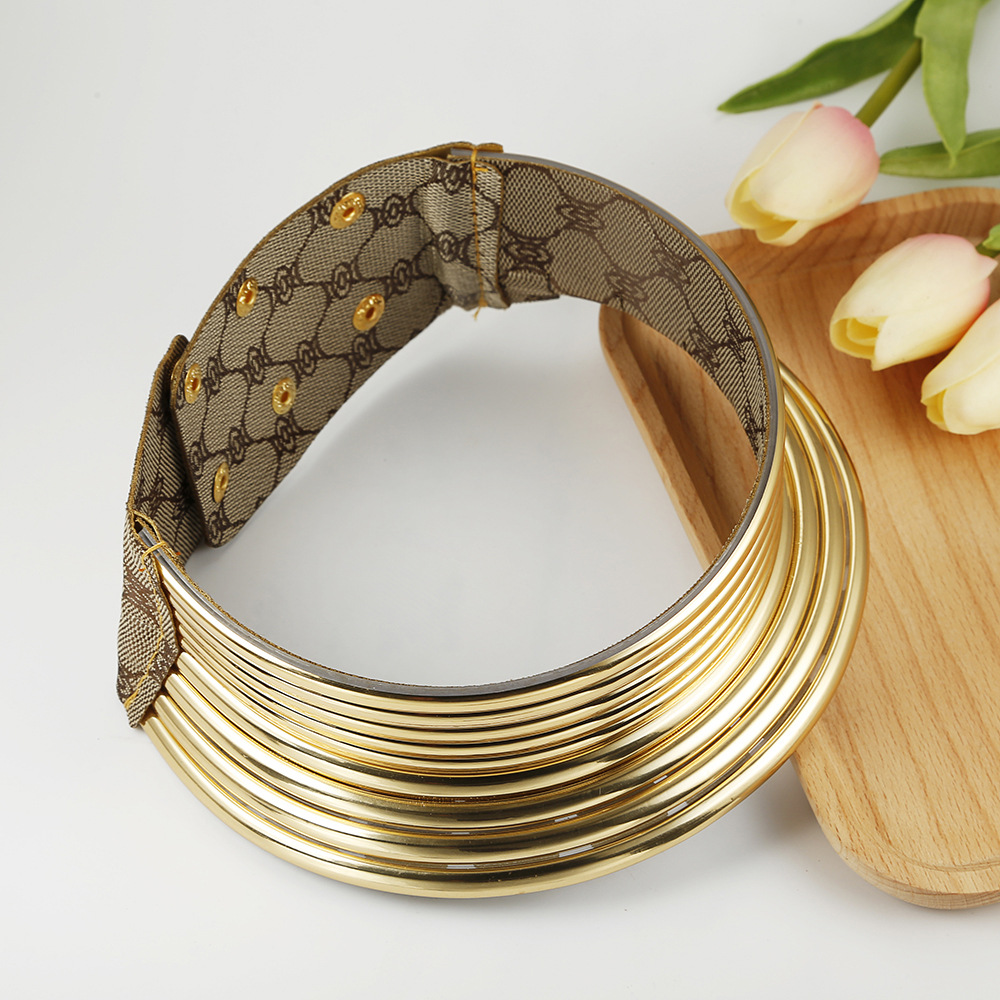 Liffly africano colar feminino cor do ouro