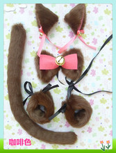 NEW Sell like hot cakes The cat ear clip + tail cosplay Masquerade props Halloween Headwear A variety of options