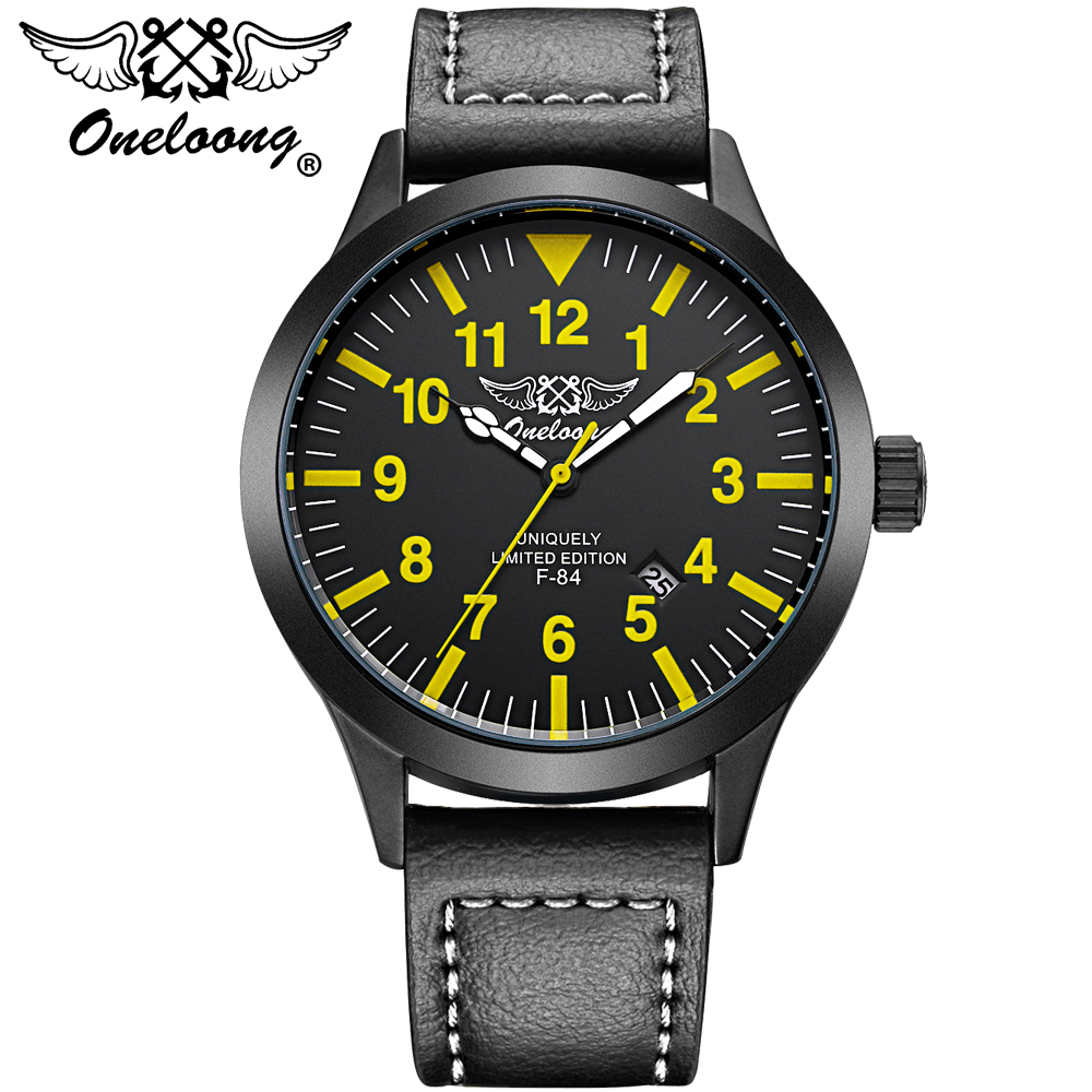 2017 New Luxury Top Brand ONELOONG Men Army Military Watches Men's Sports Quartz Clock Waterproof Wrist Watch Relogio Masculino weide genuine top brand military watch luxury men watch multiple time zone waterproof sports clock relogio masculino gift uv1503
