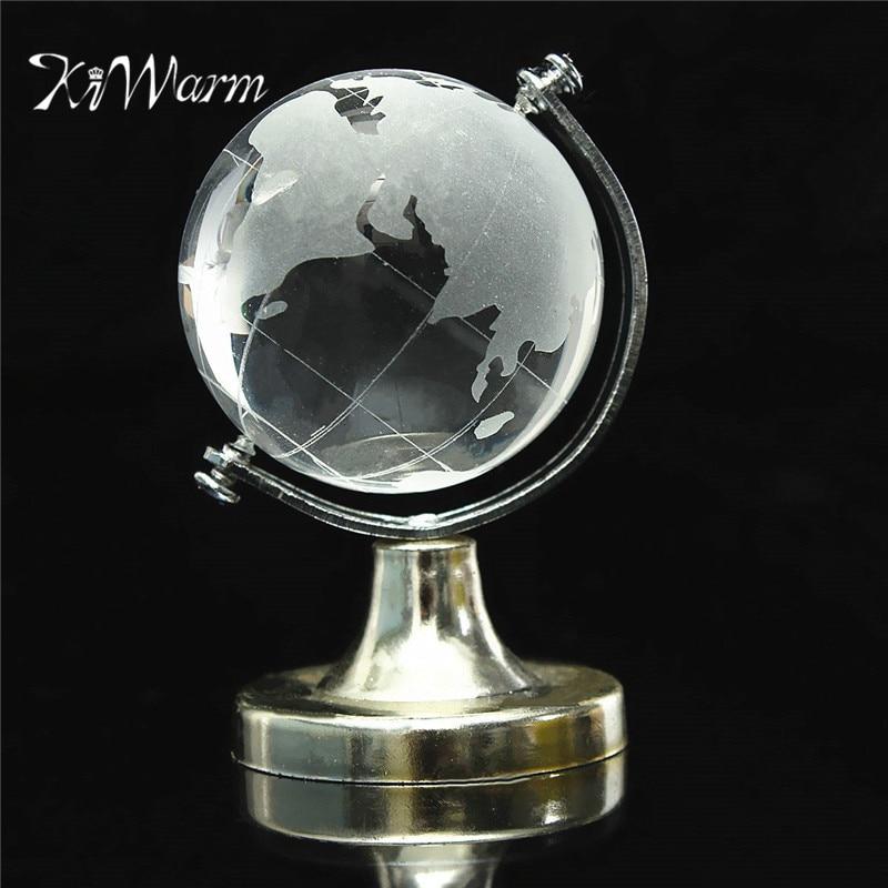KiWarm Great Glass Plastic Transparent World Globe Crystal Glass Clear Desk Decor Wedding Favor Tellurion Ornaments Gifts