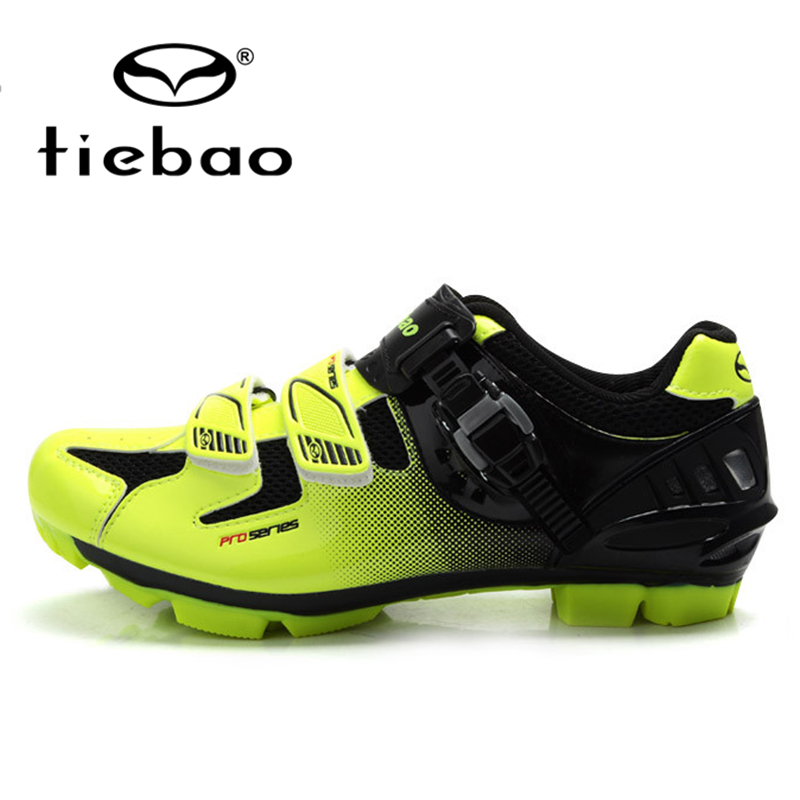 ФОТО TIEBAO Professional MTB Cycling Shoes Nylon-fibreglass Sole Breathable Bicycle Mountain Bike Shoes Men Women Self-locking Shoes