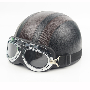 Image 3 - חצי קסדת אופנוע פנים פתוחים אופניים חשמליים קסדה משקפי מגן עבור קטנוע רכיבה על אופניים סיור בציר קסדת להארלי