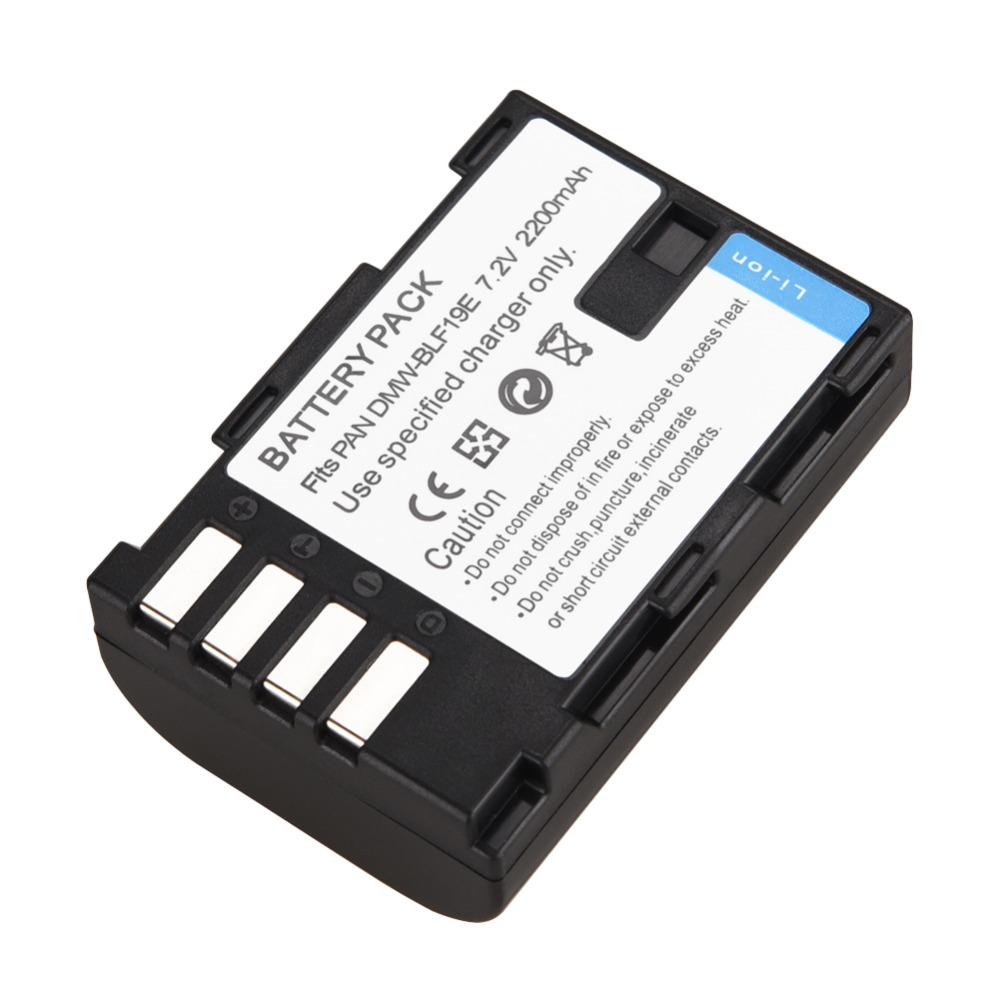 1pc 2200mAh DMW-BLF19E BLF19E Replacement Digital Camera Battery for Panasonic Lumix GH3 GH4 GH5 DMC-GH3 DMC-GH4 DMC-GH5 Camera1pc 2200mAh DMW-BLF19E BLF19E Replacement Digital Camera Battery for Panasonic Lumix GH3 GH4 GH5 DMC-GH3 DMC-GH4 DMC-GH5 Camera