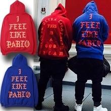 Acaoyue Kanye West Pablo Ye Hip Hop Tracksuit Sweatshirts Pull I Feel Like Paul