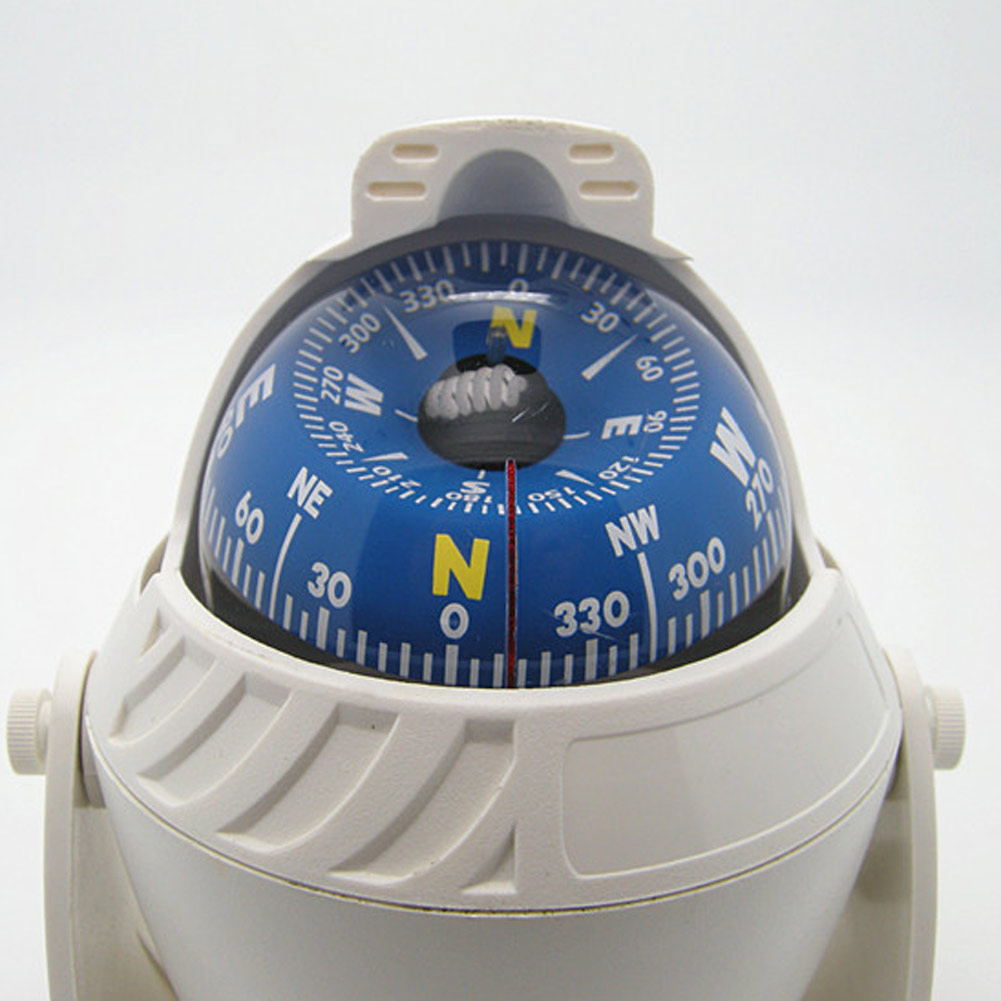 White ABS High Precision LED Light Electronic Vehicle Car Compass Navigation Sea <font><b>Marine</b></font> Military Electronic Boat Ship Compass