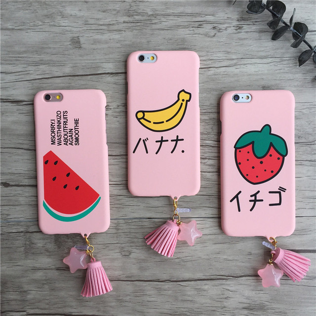 huge selection of 9e350 c4889 US $2.99 |For iphone 7 Plus case Cartoon Strawberry watermelon banana Cover  Cute fruit Star Tassel Pendant Phone Capa for iPhone 7 on Aliexpress.com |  ...