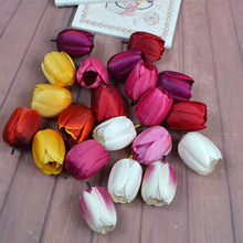 100pcs/lot Simulation of Tulips Flower Head Artificial Decoration Flowers Accessories