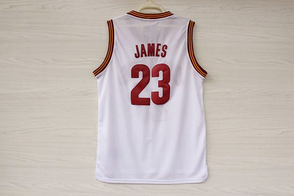 new concept 81994 5ea8c Cavs James Jersey , Cavs #23 Lebron James White Red Yellow ...
