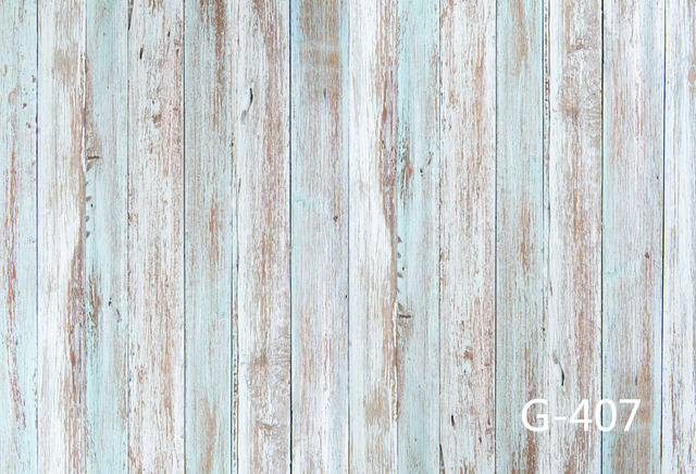 Photo Background Light Blue Wood Wall Floor Photography Backdrops Baby