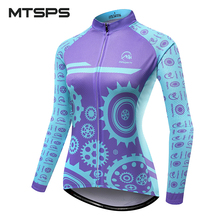 цена на MTSPS 2018 Women Cycling Jersey Mtb Bicycle Clothing Ciclismo long sleeves Jersey road riding shirt road bike cycling clothing