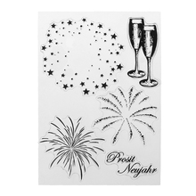 Fireworks DIY Silicone Clear Stamp Cling Seal Scrapbook Embossing Album Decor