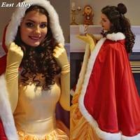 Christmas Bridal Cape Medium Length Satin 37 inch Hooded with Fur Trim Wedding Cloak Handmade Fur Cape