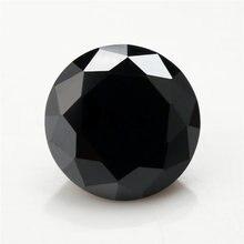 Размер 1 ~ 10 мм черная круглая форма бриллиантовая огранка