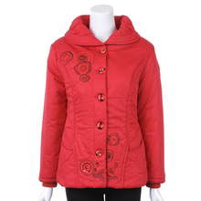 Free shipping  Mothers middle aged woman new winter thick warm padded coat big yards short
