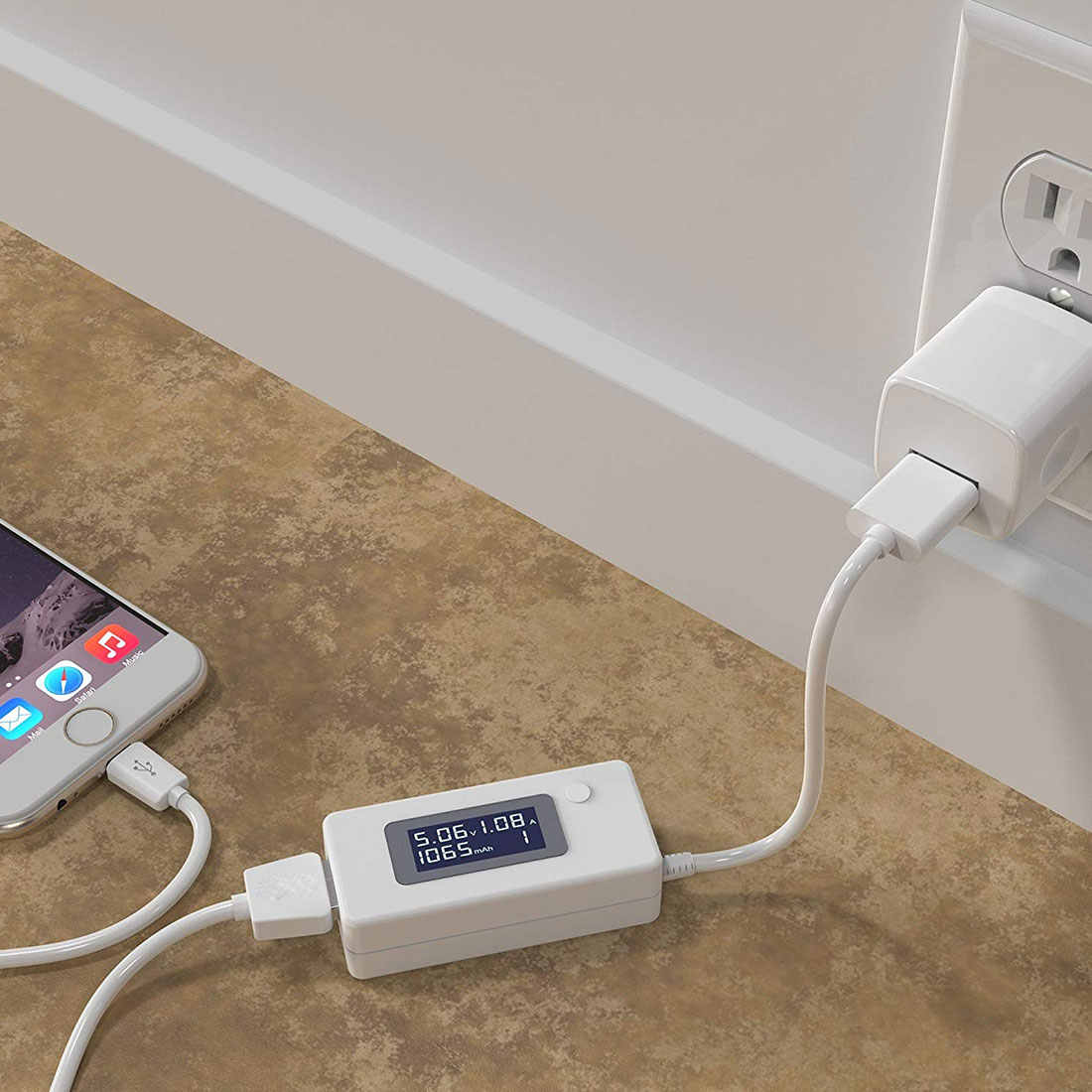USB di corrente e rilevatore di tensione A CRISTALLI LIQUIDI Digital Del Telefono USB Tester Portatile Rilevatore di Batteria capacità Della Batteria tester