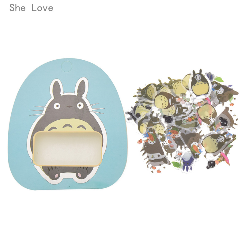 She love kawaii my neighbor totoro cartoon 3d stickers diary sticker scrapbook decoration pvc stationery stickers in stickers from home garden on