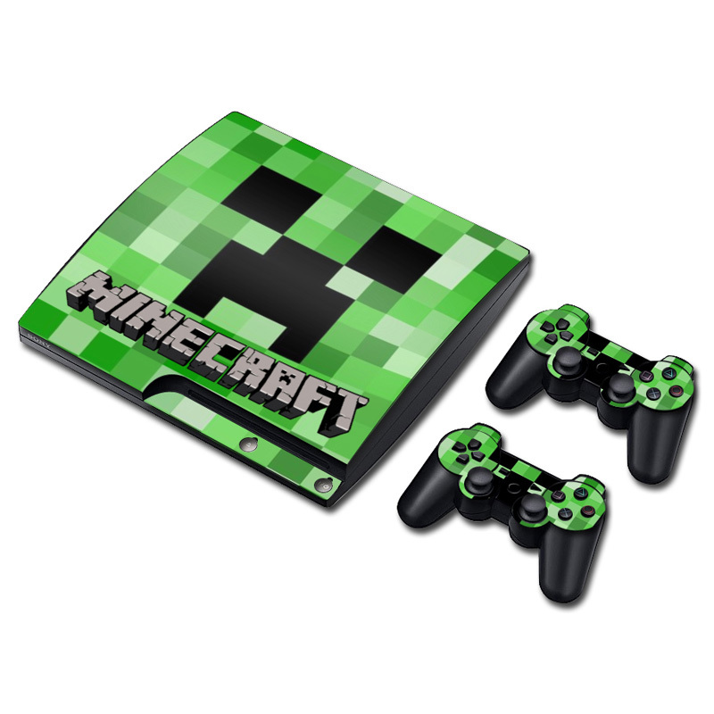 My World Minecraft Vinyl Skin Sticker For Ps3 Slim And 2