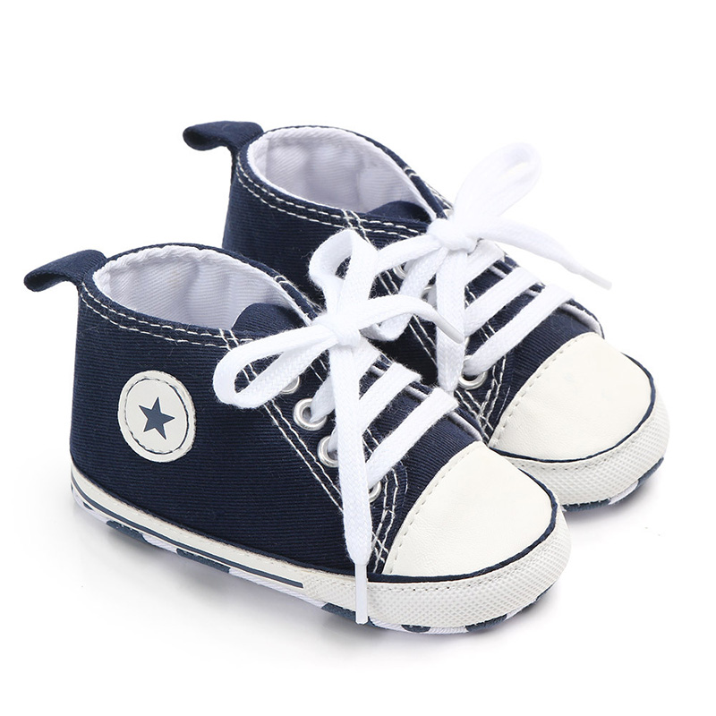 Infant Sneakers Shoes Moccasins Soft-Sole Baby Canvas Toddler Newborn-Baby Baby-Girl