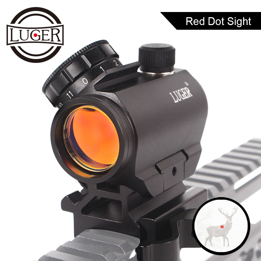 LUGER Hunting Micro Red Dot Sight Spotting Scope Sniper Riflescope Holographic Sights AK47 Air Rifle Sights Scopes For Shotguns