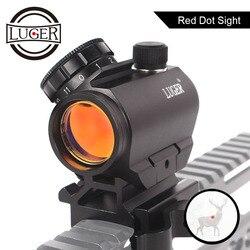 Luger Berburu Micro Red Dot Sight Spotting Scope Sniper Riflescope Hologram Pemandangan AK47 Senapan Angin Pemandangan Lingkup untuk Senapan