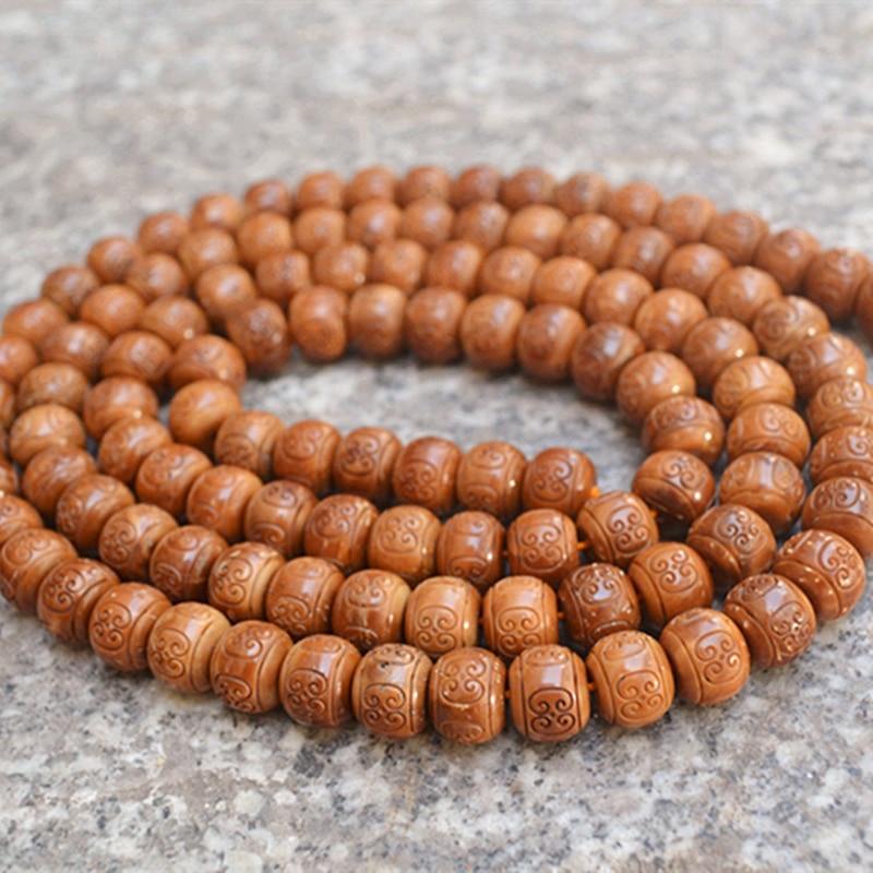 Vente en gros naturel Bodhi Bracelet petit roi Kong Bodhi 108 bouddha nuage motif perle Original bricolage hommes cuisinier main chaîne collier - 2