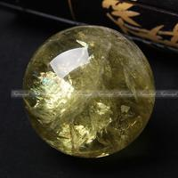 AAAA+++1PC nature citrine yellow crystal quartz gemstone sphere ball reiki healing F867 natural stones and minerals CRYSTAL LOVE