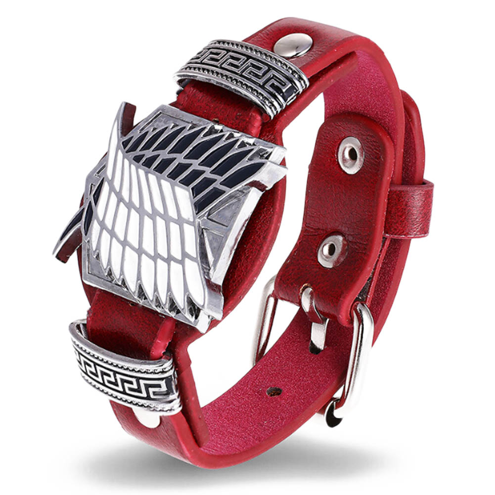 Attack on Titan Naruto Leather Bracelets   Anime Cool Store