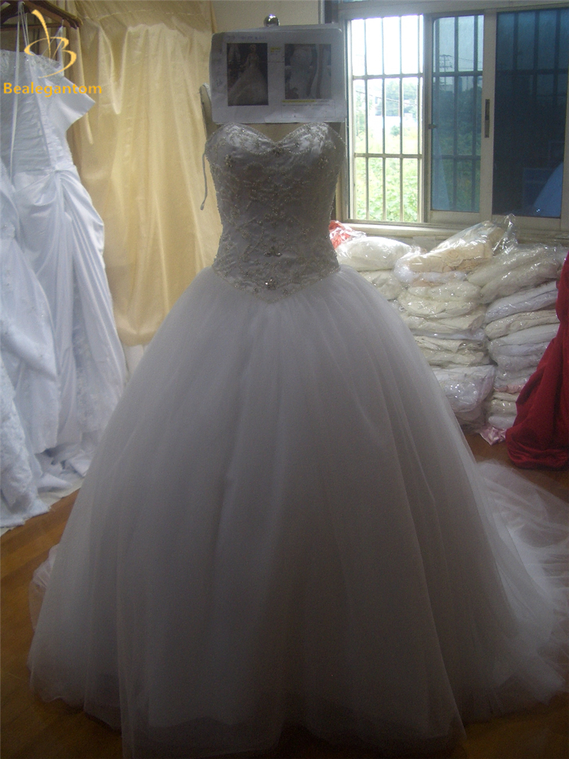 Bealegantom New Elegant Ball font b Gown b font font b Wedding b font Dresses 2017