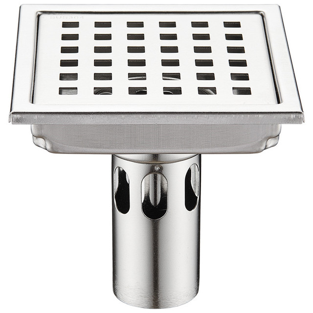 Balcony Sewer Square 304 Stainless Steel Insect Proof Deodorant Floor Drain Bathroom Shower Anti