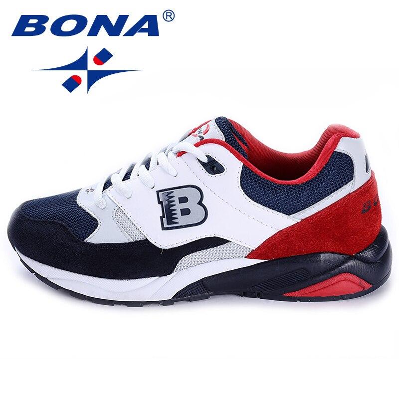 BONA Novo Estilo Popular Mulheres Running Shoes Lace Up Mulheres Calçados esportivos Ao Ar Livre Tênis de Corrida Confortável Rápido Frete Grátis